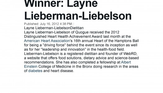 Layne Lieberman Featured In Newsday