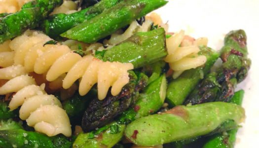 Spring Fusilli With Asparagus And Walnuts