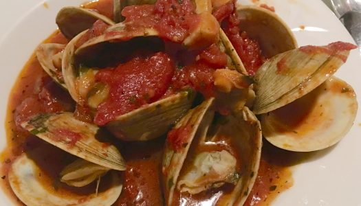 About Clams + Vongole In Red Sauce