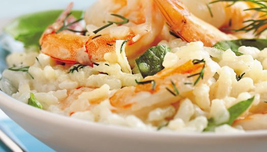 Shrimp Risotto with Arugula (Non-dairy)