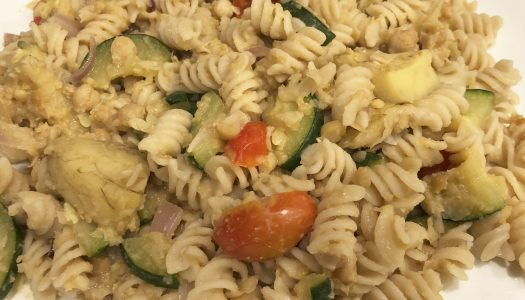 Pasta with Chickpea Sauce and Veggies